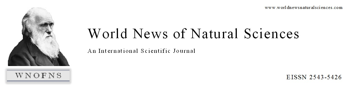World News of Natural Sciences